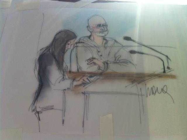 "James ""Whitey"" Bulger appears in court in Los Angeles after his arrest."