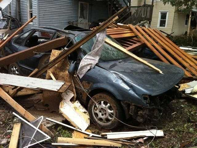 The National Weather Service office determined that the tornado attained maximum estimated winds of 160 mph as it moved into Springfield, ranking it as a high-end EF3.