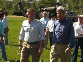Senators Brown and Kerry tour Monson