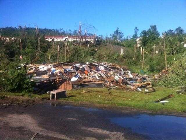 77 homes were destroyed in Monson