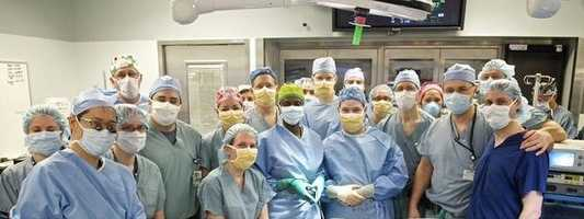 Members of the surgical team.