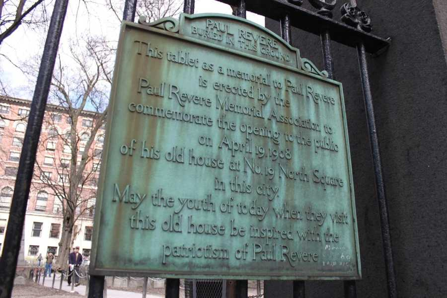 The Paul Revere plaque.