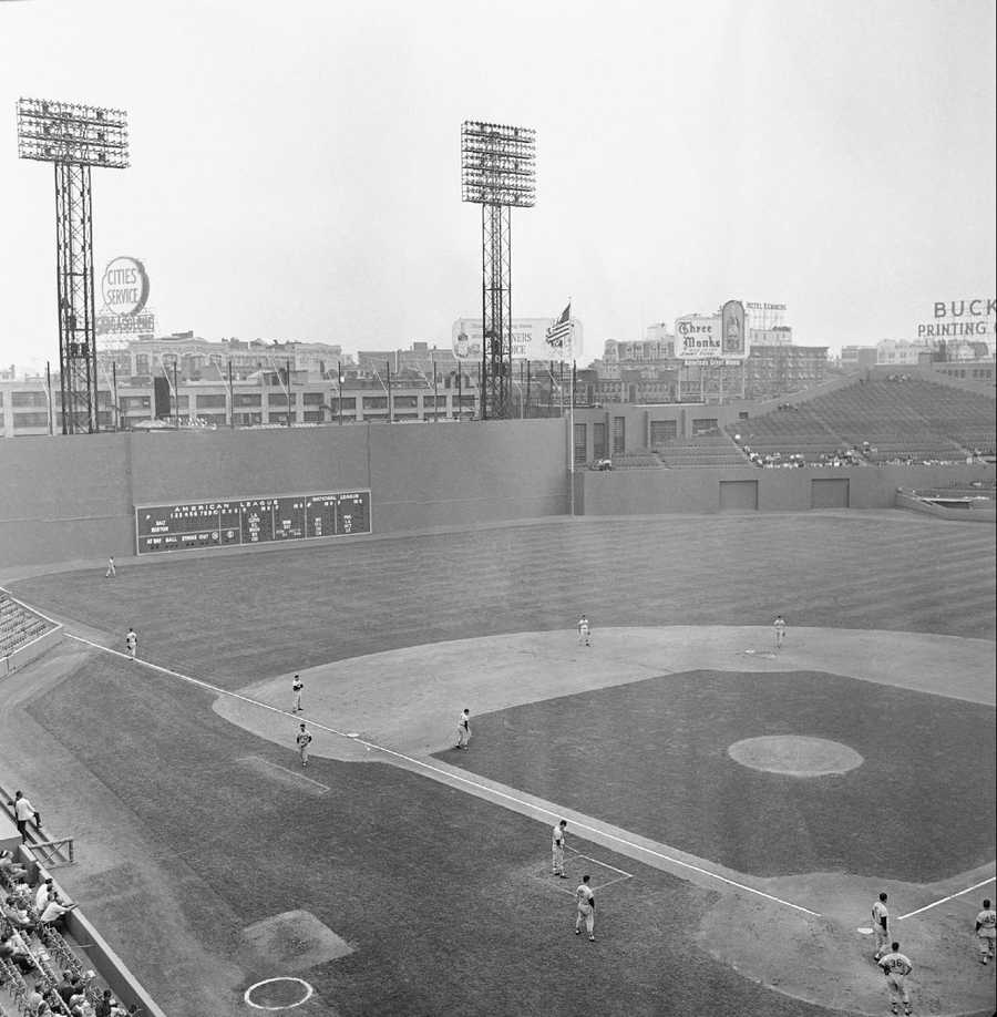 General view of Fenway Park, home of the Boston Red Sox baseball club, picture taken on July 5,1961 in Boston. The park, is one of the oldest of all current Major League Baseball stadiums, was opened in 1912.
