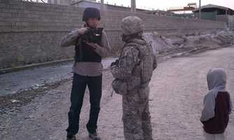 Sean Kelly prepares to go out with U.S. troops in Afghanistan