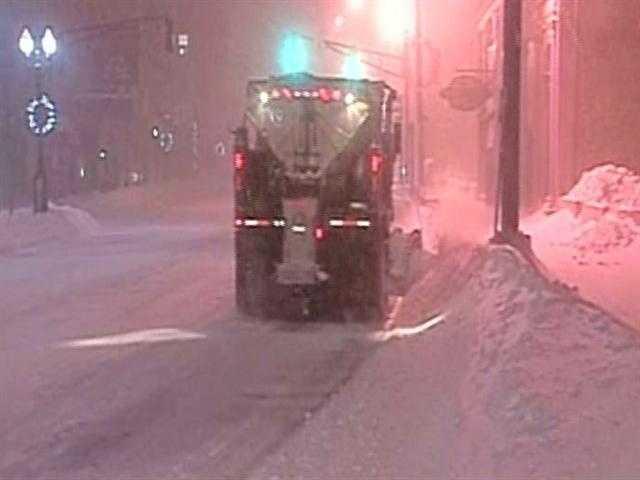 Snow plow, Copley Square