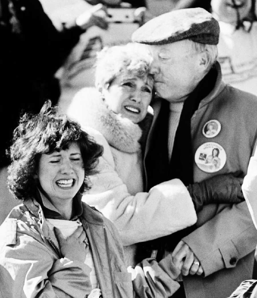 The family of Christa McAuliffe realize the horror after the Space Shuttle Challenger blew apart.
