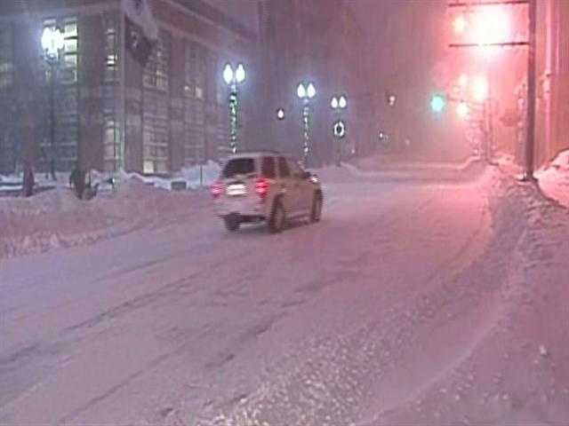 It was difficult to keep streets clear of snow for any length of time.