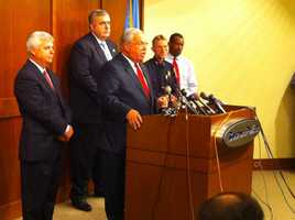 Mayor Thomas Menino, Police Commissioner Edward Davis and Suffolk D.A. Dan Conley condemned the crime.