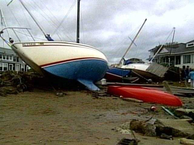 The most significant area affected by Bob was Massachusetts, where over $1 billion in damage occurred.