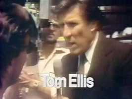 Reporter/Anchor Tom Ellis in a 1978 newscast intro