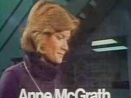 Reporter Anne McGrath in a 1978 newscast intro.