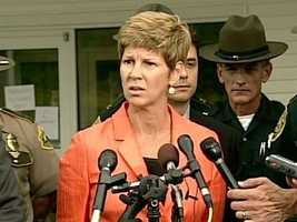 Assistant Attorney General Jane Young announces the discovery of Celina Cass' body.