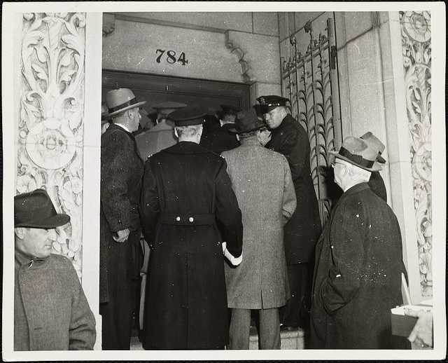 In 1943, Mass. and other states enacted laws banning flammable decorations and inward-swinging exit doors in public buildings, and requiring exit signs to be visible at all times. Revolving doors were required to be flanked by outward-opening doors, as well.