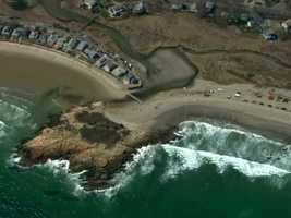 Officials feared she was swept out to sea.