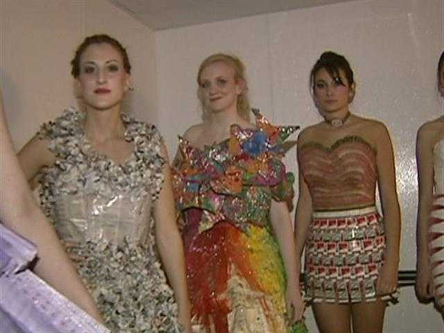 MassArt sophomores lead the show with couture made of anything EXCEPT fabric.