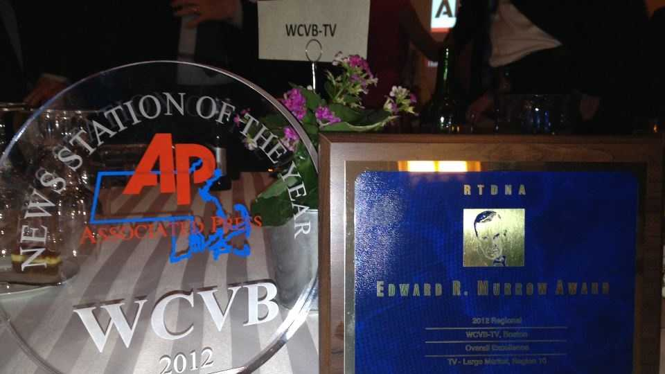 """The EMMY awards come on the heals of those won in the Associated Press and RTDNA news competition. WCVB-TV was named """"News Station of the Year"""" and won for Overall Excellence."""