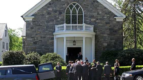 Members of Mary Richardson Kennedy's family remove the casket holding her, the estranged wife of Robert F. Kennedy Jr., at St. Patrick's Church in Bedford, N.Y., Saturday, May 19, 2012.