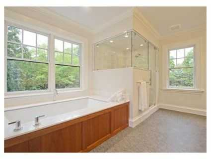 There are 4 bathrooms and one half-bath.