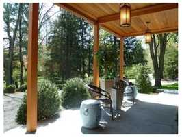 The home is set on 3/4 acre