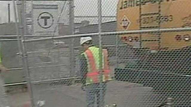 An oil truck driver is killed at an MBTA boat terminal