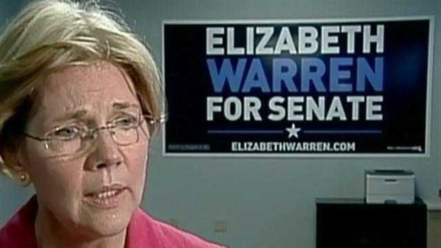 Elizabeth Warren speaks with WCVB