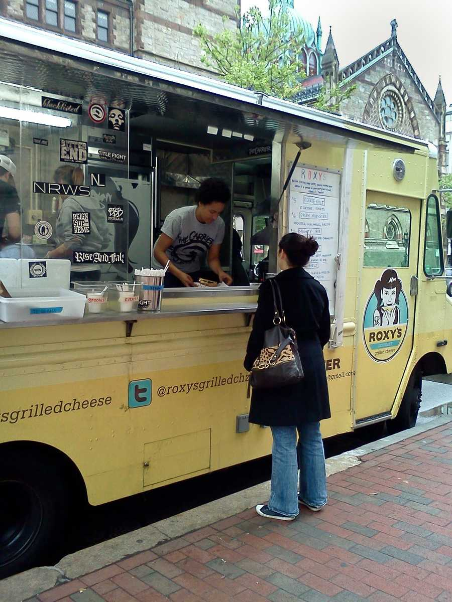 Roxy's Grilled Cheese reigns as the big name in the Boston food truck circuit, having been featured on Food Network's The Great Food Truck Race.