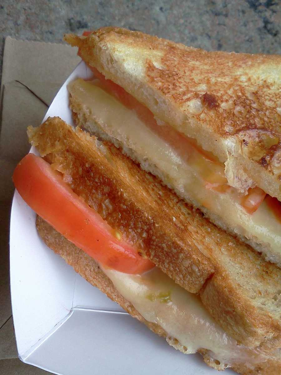 Roxy's makes a great grilled cheese, with sharp cheddar with a bite, toasty grilled bread moist with the right touch of grease, and thick slices of tomato.