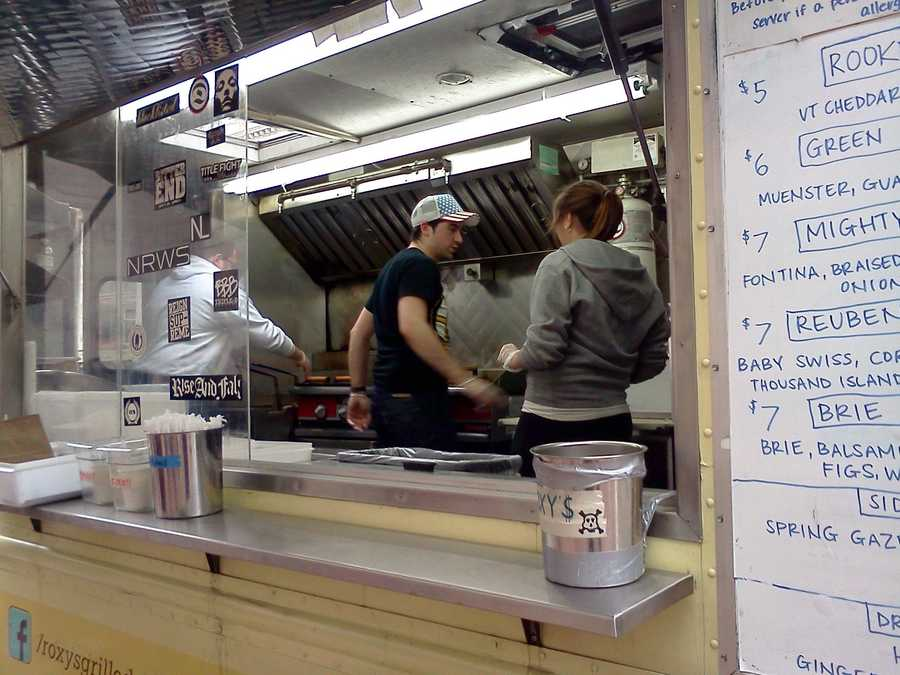 Roxy's staff hard at work in the truck's kitchen