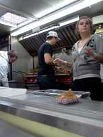 There's often a lunchtime rush at Roxy's, as hungry workers stop by for their grilled cheese fix.