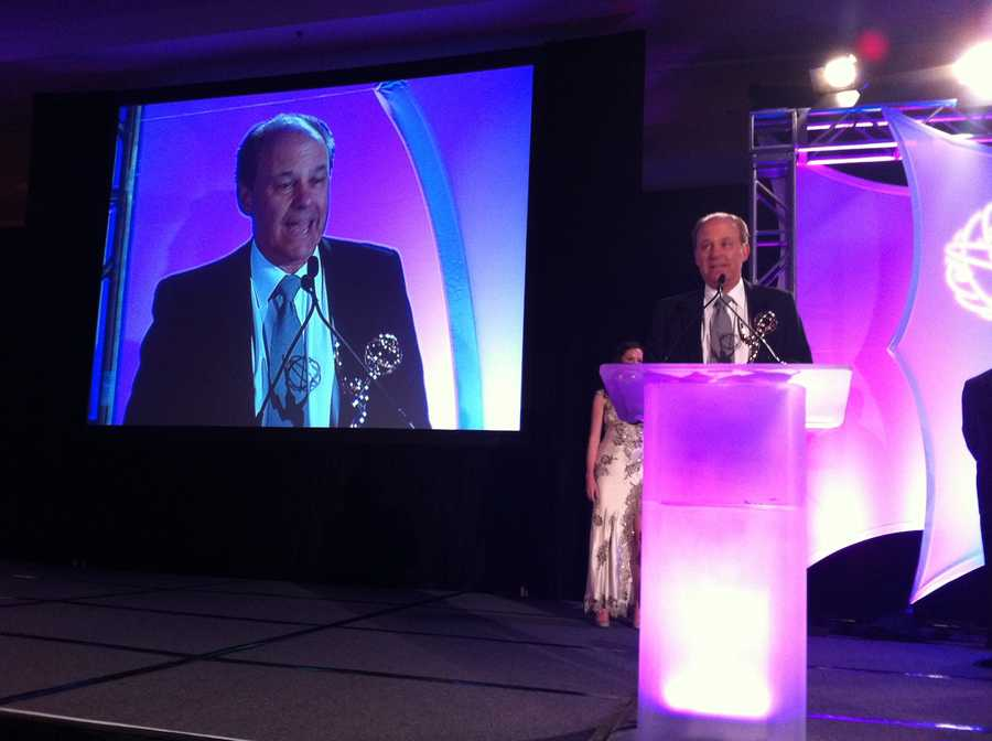 WCVB-TV chief meteorologist Harvey Leonard won an EMMY for Outstanding Anchor: Weather.