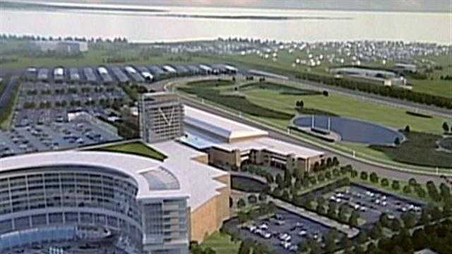 The owners of Suffolk Downs unveiled details Tuesday to develop a resort style casino at the 77-year-old Boston horse racing track.