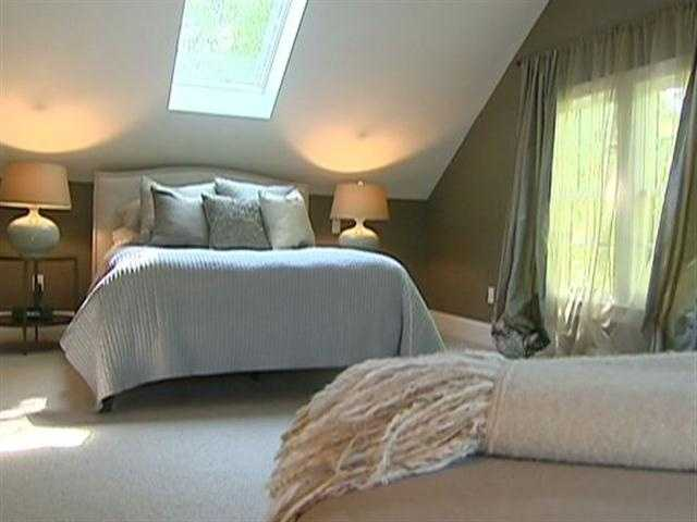 Upstairs are two bedroom suites.