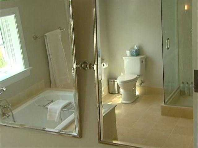 Both suites include lavish bathing areas.