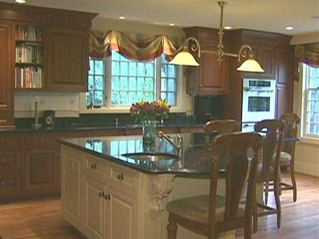 In 2006, the five-bedroom, three-and-a-half bath home had extensive renovations in the kitchen, family room and bathrooms.