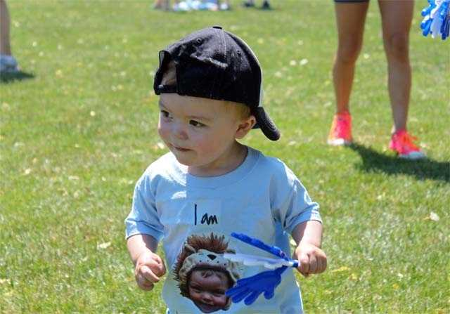 "Meet Lucas ""the lionhearted miracle.""  His family was one of thousands participating in the 10th annual NSTAR Walk for Children's hospital."