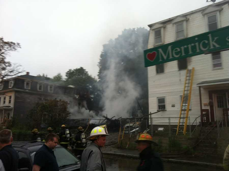 An investigation is underway into the cause of the fire