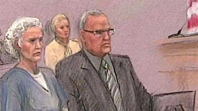 Greig sentencing sketch
