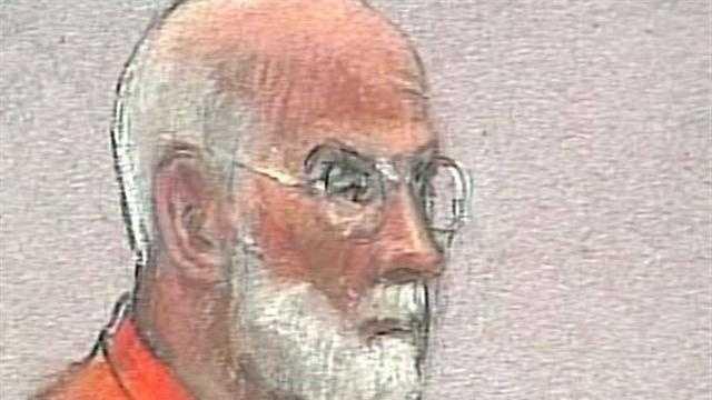 "James ""Whitey"" Bulger In Court Orange Jumpsuit Sketch - 28385718"