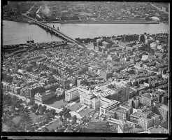 An aerial view of Beacon Hill and the Charles River, 1931.