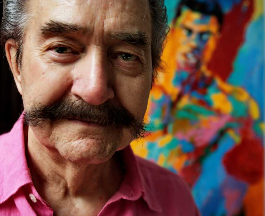 Ionic American artist LeRoy Neiman was known for his trademark handlebar mustache and his bright, impressionistic portrayals of the world's top sporting events.  Although his paintings captured everything from U.S. presidents to jazz musicians to the powerful animals of Africa, Neiman became best known for his bright, bold sketches of the sports world, capturing its motion and emotion in his brushstrokes. (June 8, 1921 - June 20, 2012)