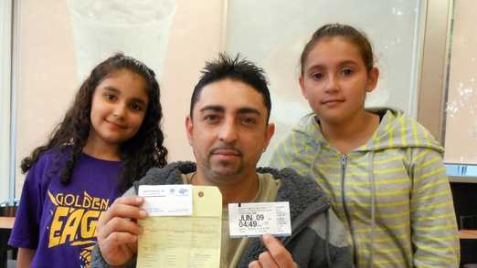 Luis Melendez, 36, of Haverhill, and his two daughters. Courtesy of the Eagle Tribune
