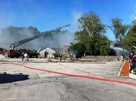 The restaurant at 390 Fall River Ave. was destroyed in the fire and explosion.