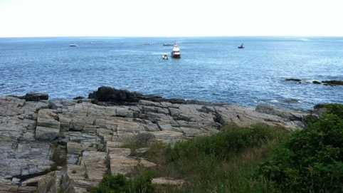 The U.S. Coast Guard found debris of a small plane in the waters of Casco Bay.
