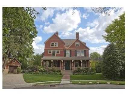 Surrounded by amazing flowering gardens, patios & outdoor areas on 1/3 acre is this gracious Queen Anne Victorian off Brattle Street
