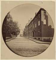 Mt. Vernon Street near the State House, 1860.