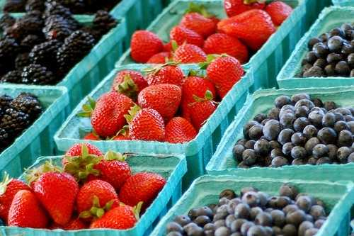 Berries are also high in fiber, in addition to being a great source of Vitamin C.
