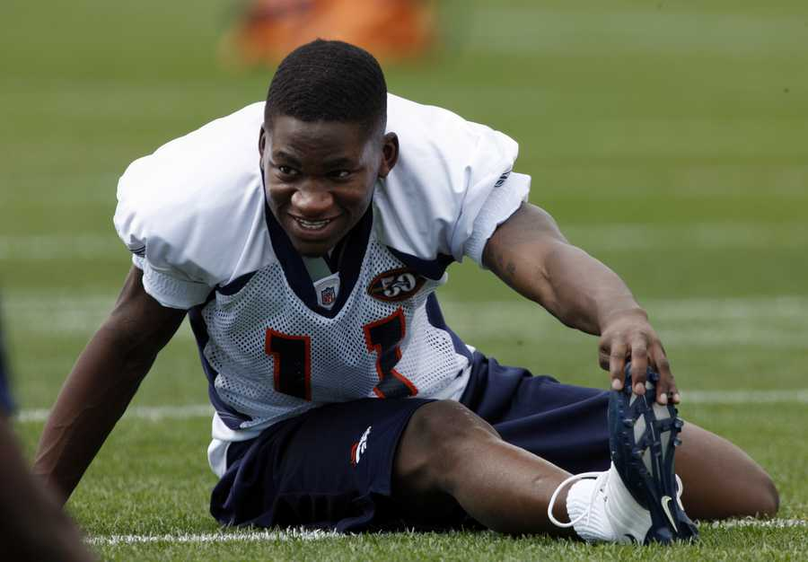 Kendrick McKinley was a wide receiver for the Denver Broncos. He died from a self-inflicted gunshot wound. (January 31, 1987 – September 20, 2010)