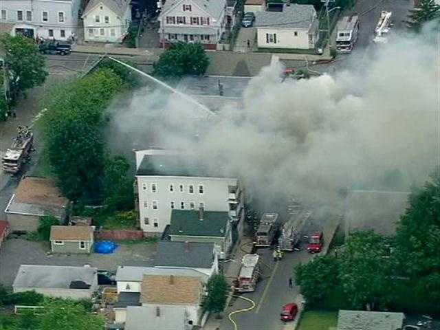 The fire started at 267 Water St. at about 1 p.m. Thursday.