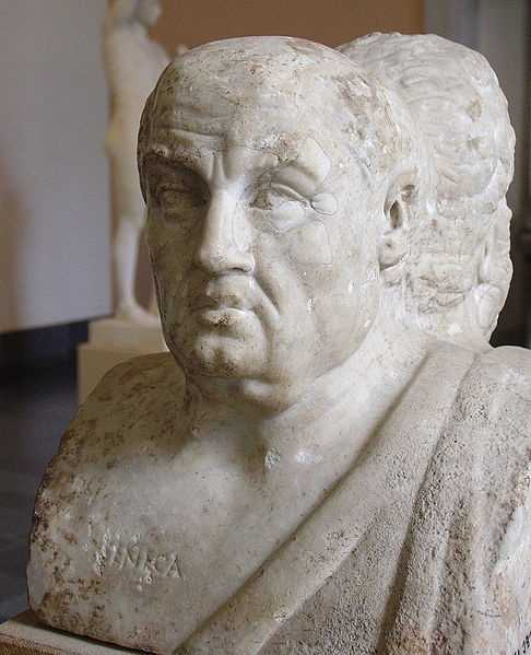 Seneca the youngerwas a Roman philosopher and statesman who was forced to commit suicide because of his role in aconspiracy to assassinate Emperor Nero. (ca. 4 BC – AD 65)
