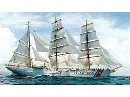 The USCG Barque Eagle is a 290-foot long globetrotting ambassador and sail training ship of the U.S. Coast Guard Academy. Eagle always leads the Parade of Sail. She will be docked at the Charlestown Navy Yard.